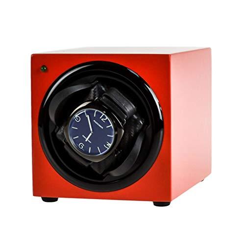 LAMZH Caja almacenamiento reloj Silencioso-Cargador de Rotación Automática Para Relojes,Matt Paint+Fiber, Motor Calidad,Rotación Dos Direcciones Vitrina Movimiento,Para Varios Relojes Ver caja de alma