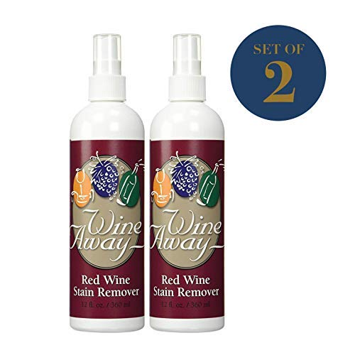 Wine Away Red Wine Stain Remover - Removes Wine Spots - Perfect Fabric Upholstery and Carpet Cleaner Spray Solution - Spray on Stain Wash and Laundry to Vanish Stain - Zero Odor - 12-Ounces, Set of 2