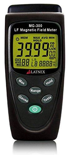 LATNEX MG-300 LF Misuratore di campo magnetico, misura la radiazione EMF da linee di trasmissione ad alta potenza, elettrodomestici, cavi elettrici - Utilizzato per EMF Home Inspectios