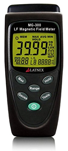 MG-300 ELF Gauss and EMF Meter and Detector Best EMF Meter for Measuring EMF Radiation from High Voltage Power Lines - Appliances - Electrical Wires- Used for EMF Home Inspections by LATNEX