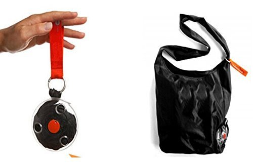Germany Nautiloop Women Fashion Magic Mini Shopping Stored and Folded Bag Shopping Polyester Bag (Black) by JW