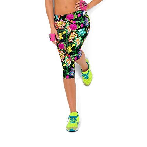 Xmiral Leggings Fitness Donna - Vita Alta Snellente ed Effetto Alzagluteo Modellante - Leggins Elasticizzato per Curve Sensazionali - Praticità e Sensualità Quotidiana (M,9- Verde)