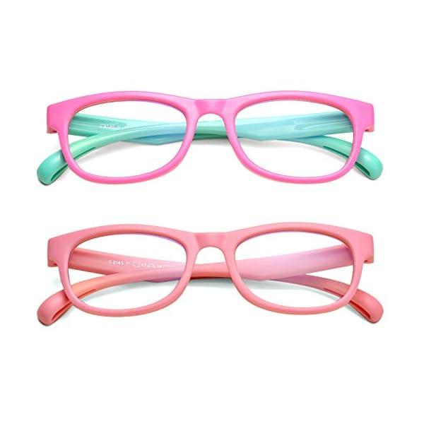 Blue Light Blocking Glasses for Kids, Girls Boys Anti Blue Ray Computer Eyeglasses for Age 2-13