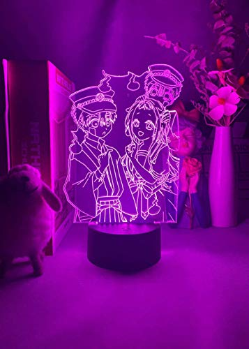 Lámpara de noche 3D con ilusión My Hero Academia cazador a tiempo completo para niña, decoración de mesa para regalos de cumpleaños de vacaciones para niños