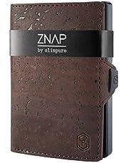 ZNAP Tarjetero Hombre RFID Metálico con Compartimento para Monedas – Cartera Tarjetero Hombre de Aluminio – Billetera Hombre pequeña para 4-8 Tarjetas – Monedero Hombre Minimalista