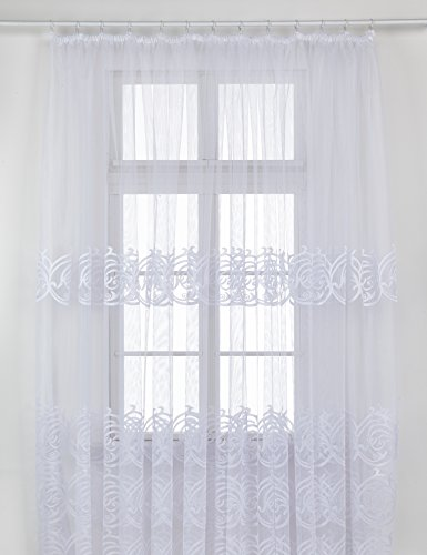 Alktex-Fako Tenda pronta all'Uso, Poliestere, Weiß-Transparent, 145 x 600 x 0,3 cm