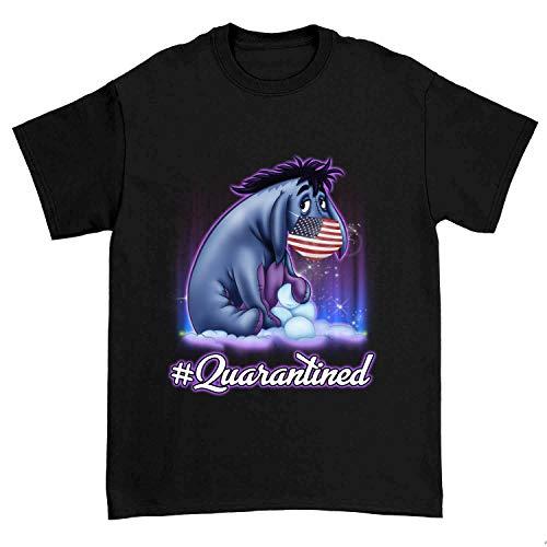 Eeyore Wearing USA Flag Quarantined Vintage Gift Idea Tshirt