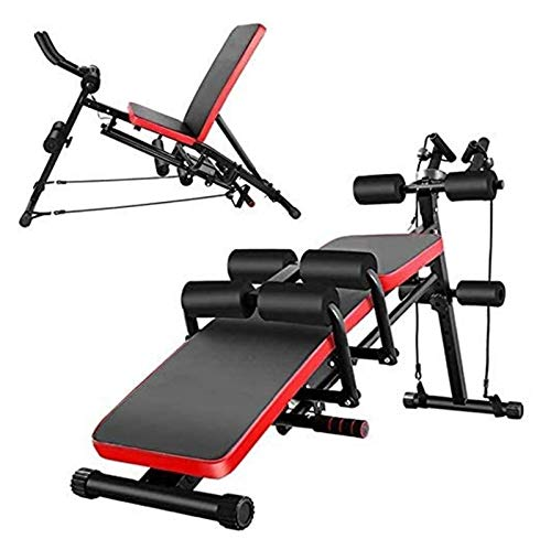 Durable Sturdy Olympic Weight Benches for Home Gym Tilt Fitness Bench Adjustable Weight Bench - 8-in-1 Folding Dumbbell Bench Dumbbell Bench /Bodybuilding Supine Table for Home Gym Multi-purpose Incli