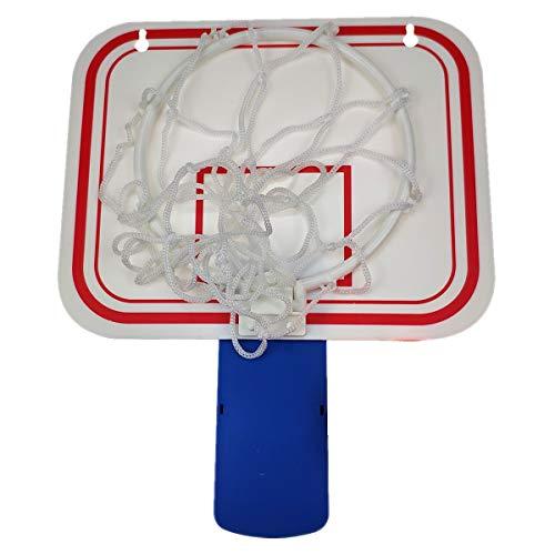"TaktZeit Office Basketball Hoop Clip for Trash Can Basketball Game Small Basketball Board Clip for Waste Basket in Restroom Bed Room Bathroom and Office (Blue Clip, 6.3"" x 7.9"")"