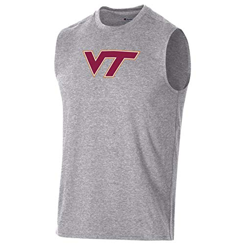 Champion NCAA Virginia Tech Hokies Herren Field Day Muscle Tee, Gr. XL, Oxford Grey