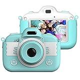 Vannico Camara de Fotos para Niños, Camara Fotos Infantil 8 MP 3 Inch Pulgadas Táctil Juego Vídeo con Tarjeta TF 16GB Niños Regalos Cumpleaños Navidad (Azul)