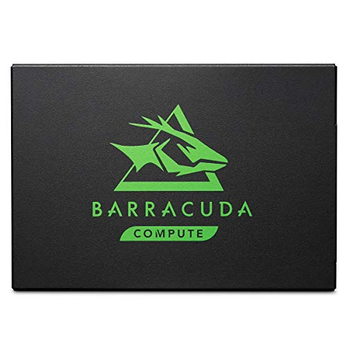 Seagate Barracuda 120 SSD, interne SATA 1 TB, 2.5 Zoll, SATA 6 Gb/s, bis zu 560 MB/s, schwarz, Modellnr.: ZA1000CM10003