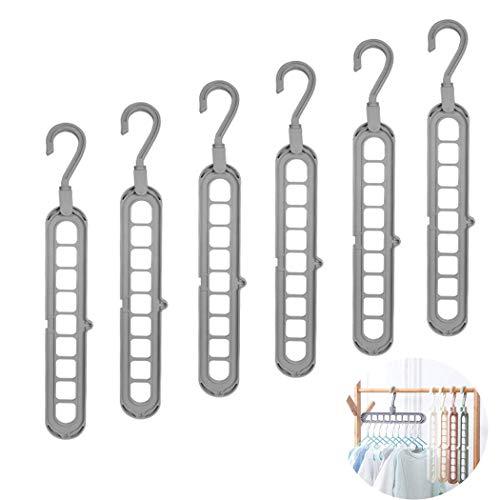 QYY Kleiderbügel Organizer, multifunktional, platzsparend und kaskadierbar, drehbare rutschfeste Kleiderbügel, robuster Kunststoff, Faltbare Kleiderbügel