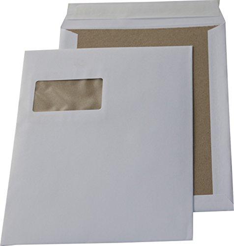 100 St. C4 Papprückwand Versandtaschen weiß mit Fenster 120 gr. Kuvert Haftklebend Briefumschläge HK Briefhüllen