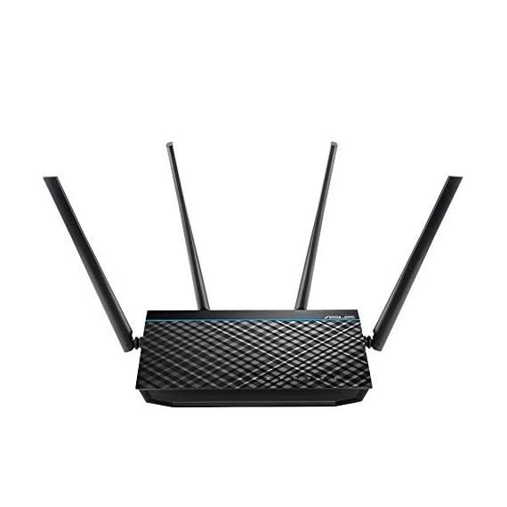 ASUS AC1700 WiFi Router (RT-ACRH17) - Dual Band Gigabit Wireless Router, 4 GB Ports, USB 3.0 Port, Gaming & Streaming… 3 Concurrent Dual band (2. 4 + 5 GHz) AC1700 wireless router with the latest 802. 11ac MU MIMO (4T4R) technology for data transfer speeds up to 1700 Mbps Quad core processor with 256MB ram optimizes network traffic and connectivity speeds from the USB 3. 0 and 4x Gigabit LAN ports Mu Mimo (3x3) delivers full speed for multiple devices by connecting multiple MU MIMO compatible clients at each device's maximum Wi Fi speed simultaneously
