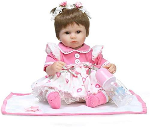 SERBHN Los 42Cm Simulación Completa De Silicona Renacido Muñecas Estilo De Vida De La Princesa del Bebé Juguete De La Educación del Bebé Comfort