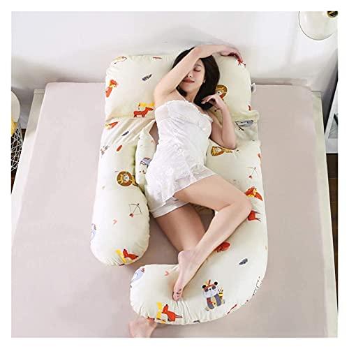 Forma de G-Forma Lavable Almohada de cuerpo completo Ancho ajustable Lactancia materna Almohada de enfermería con alta resiliencia Espiral Relleno de algodón / espalda, cuello y pierna Alivio del dolo