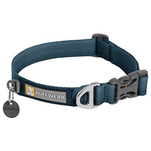 RUFFWEAR Front Range Hundehalsband, Strapazierfähiges und Bequemes Halsband für den Täglichen Gebrauch, Blue Moon, 28-36 cm