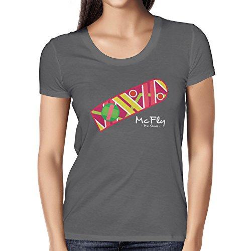 Texlab Damen McFly Pro Series Hoverboard T-Shirt, Grau, XL