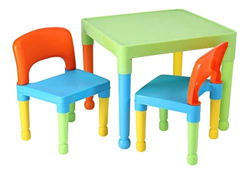 Liberty House Toys Kinder Tisch und 2Stühle, Set, Kunststoff, Mehrfarbig