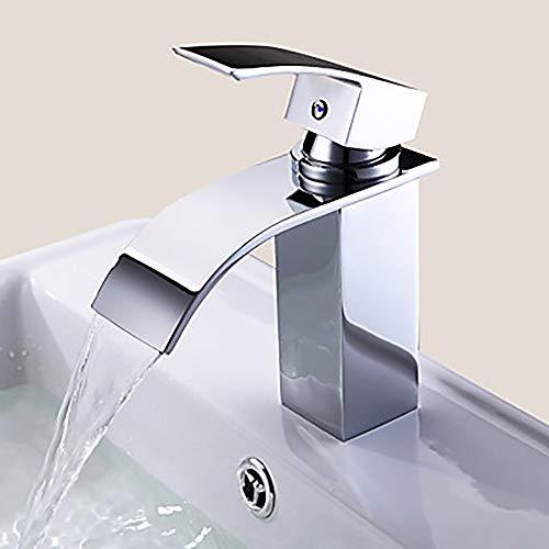 Faucet XFSE Grifo moderno del lavabo del cuarto de baño del hotel del retrete - cascada solo agujero/sola manija un grifo