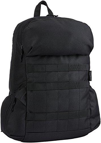 Amazon Basics - Rucksack aus Canvas für Laptops bis 15 Zoll / 38 cm, Schwarz