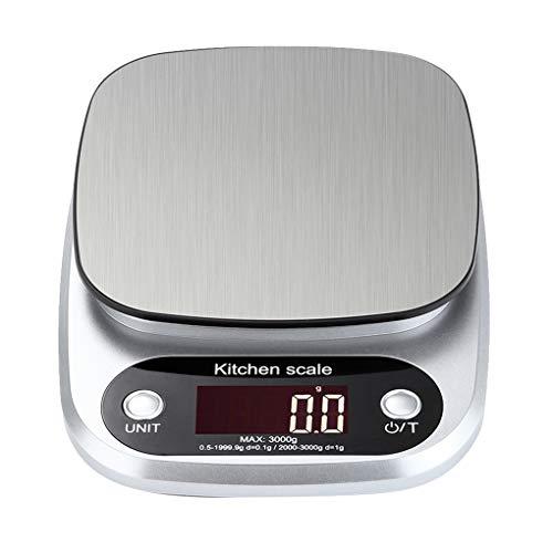 tubc Digitalwaage 10 kg / 1G Küchenwaage Elektronische Digitalwaage Küchenkochmaßstab Edelstahl-Wiegewerkzeug
