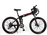 Bicicleta eléctrica de nieve, Bicicleta eléctrica de montaña, bicicleta para montaña / urbana, 26 Ruedas de altavoz, suspensión delantera, 21 velocidades engranajes y tres modos de trabajo Batería de