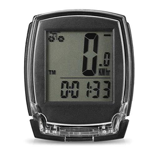 Cuentakilómetros para Bicicleta Inalámbrico Bici de la computadora del velocímetro Digital odómetro...