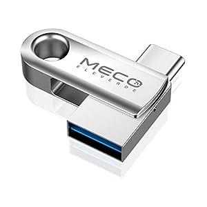 MECO ELEVERDE 128GB Pendrive 3.0 OTG USB Tipo C Memoria USB Flash Drive USB C Memory Stick Interfaz USB 3.0 Compatible con Type C Samsung, iPhone Not Compatible
