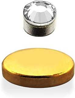 CZ Crystal Fake Magnetic Non - Piercing Nose Ear Monroe Stud