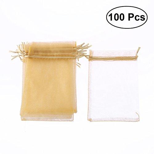 Toyvian Bolsa Organza Boda Cordón Blanca 100 Piezas