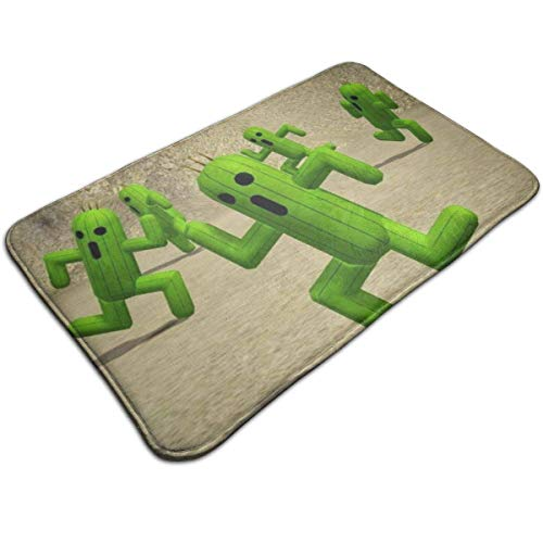 Balance-Life Running Cactus Indoor/Outdoor Flat 40x60cm Made of 100% Polyester Extra Soft and Non Slip Area Rug for Bedroom, Kitchen, Living Room, Office, Playroom