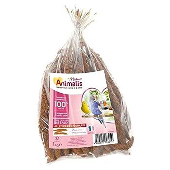Animalis Nature - Millet Rouge en Grappe pour Oiseau - 1Kg