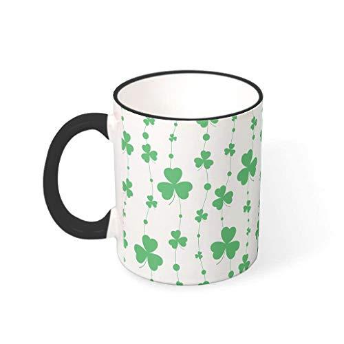 Fineiwillgo Taza de café de porcelana con asa, multicolor, regalo para oficina, drakblack 330 ml
