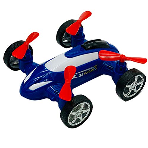 Drohne fliegendes Auto Spielzeug, Creamon Drohne fliegendes Auto Spielzeug Kinder Trägheit Spielzeugauto Plastikauto Modell Spielzeug blau