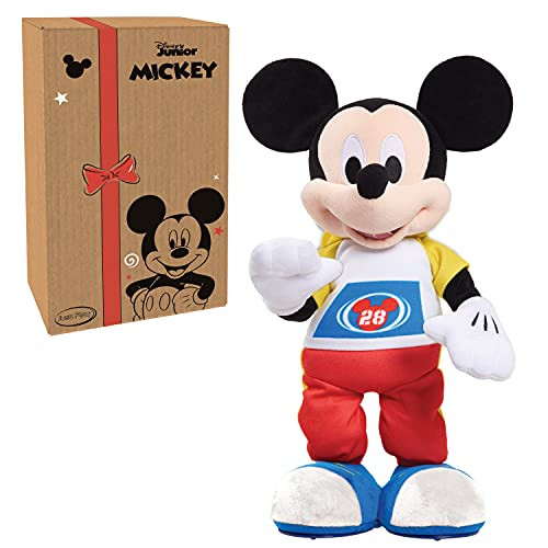 Disney Junior Mickey Mouse Funhouse Stretch Break Mickey Mouse 17 Inch Dancing and Singing Feature Plush, by Just Play