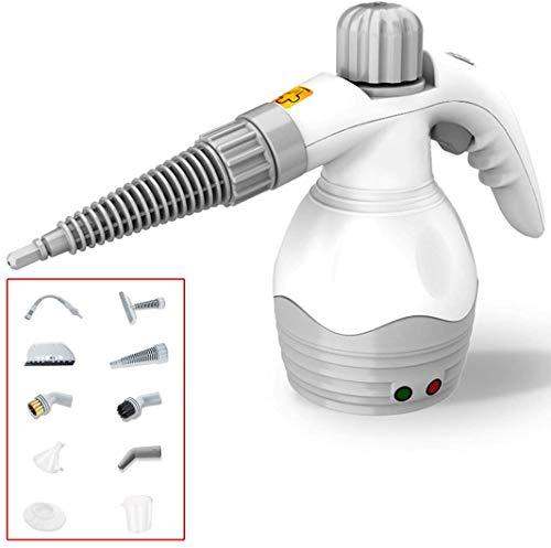 MAQRLT Dampfreiniger Hand, Home Use-Dampfer mit 9-teiliges Zubehörset für Multioberfläche Fleckenentferner, Fenster, Zähler, Teppiche, Autositze