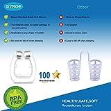 Dyroe Schnarchstopper Premium Nasenclip Nasenspreizern [4er Set] - Verbessertes Konzept 2020 Neuartige magnetischen Nasenklammer Silikon für möglich bessere Atmung BPA-frei und FDA-Zertifizierung - 2
