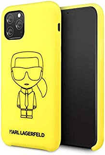 Karl Lagerfeld Ikonik Silicone Case For iPhone 11 Pro - Yellow
