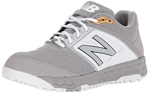 New Balance Men's 3000 V4 Turf Baseball Shoe, Grey/White, 16 W US