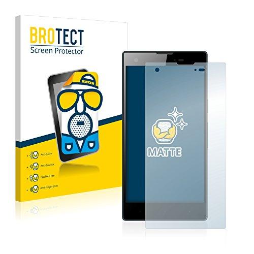BROTECT 2X Entspiegelungs-Schutzfolie kompatibel mit Kazam Tornado 350 Bildschirmschutz-Folie Matt, Anti-Reflex, Anti-Fingerprint