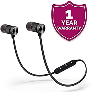 LimeShot Magnetic Bluetooth Attractive Headphone with Noise Isolation and Hands-Free Mic and Buttons with Magnetic Earbuds Secure Fit for Xiaomi Note 7,Redmi 6 pro, Realme and Others.
