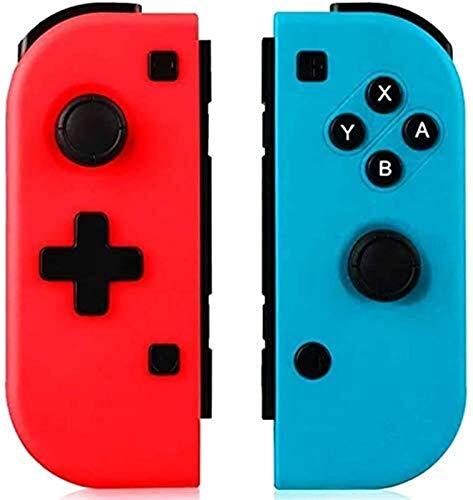 ZLZ Maniglia Controller, Joystick Wireless Gamepad per Nintendo Switch Console Remote Controller, Doppio Shock 6 Axis Gyro Come Sostituzione per Gioia con Controller 2 Pezzi Flessibile