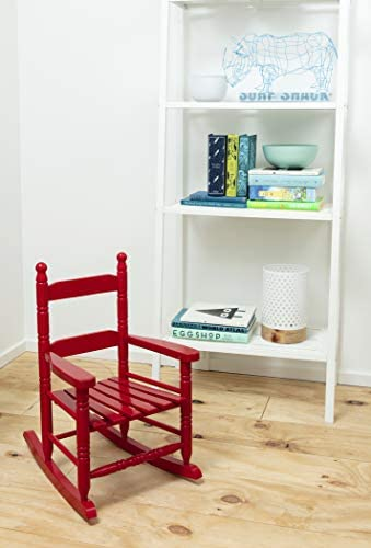 Best Jack-Post KN-10R Classic Childs Porch Rocker Red