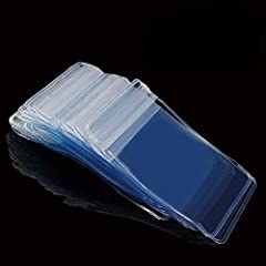 Package - including 100 pack plastic zipper bags, size:1.96x2.75 inch, color: clear. Thickness: 0.25mm (9.8 mil). Durable & convenient - Keep your products clean and free from moisture, protect the food from oxygen and bacterium, long-term preservati...