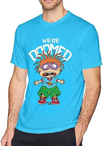 Ushpoy Rugrats in Paris-Royal Chuckie Man's Cotton T-Shirt,Medium