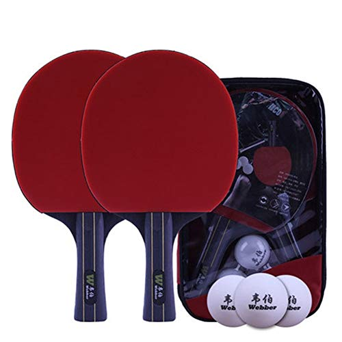 Purchase HUIJUNWENTI 2Table Tennis Racket for Beginner, Horizontal & Straight Shot with Racket Bag &...