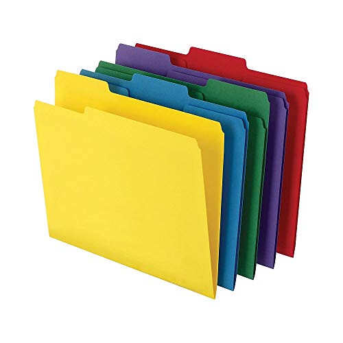 MyOfficeInnovations 810351 Heavyweight Colored File Folders, Letter 3 Tab, 50/BX