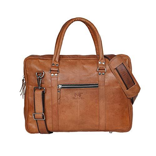 Maletín de cuero ejecutivo para ordenador portátil, bolsa de mensajero de oficina, bolsa de ordenador para hombres y mujeres (16 pulgadas)